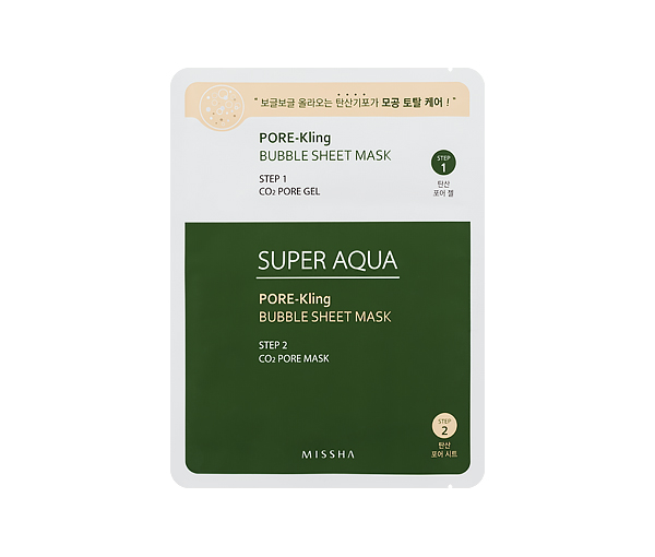 MISSHA Super Auqa Pore-Kling Bubble Sheet Mask