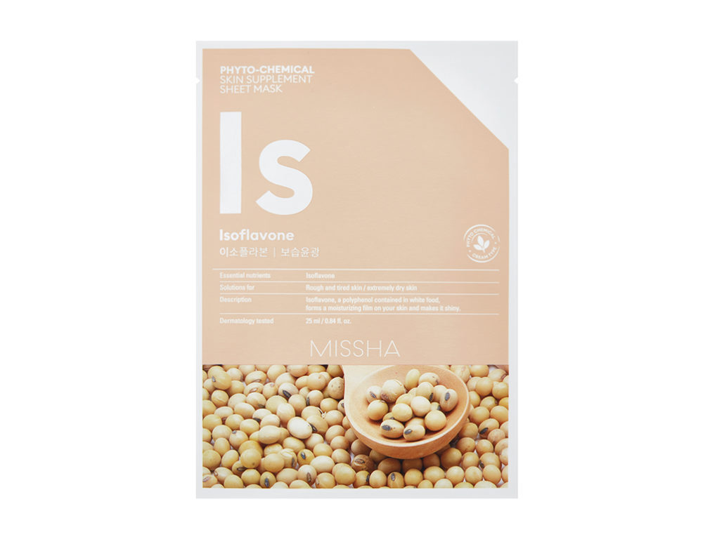 comarch MISSHA Phyto-chemical skin supplement sheet mask_Isoflavone IS